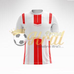 Kırmızı Beyaz Dortmund Halı Saha Forma + Şort