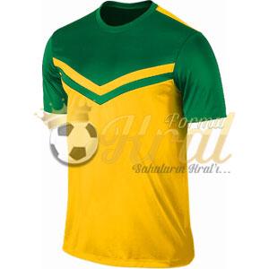Victory II Sarı Yeşil Halı Saha Forma + Şort
