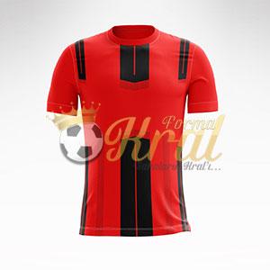 Kırmızı Siyah Dortmund Halı Saha Forma + Şort