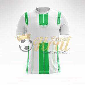 Yeşil Beyaz Dortmund Halı Saha Forma + Şort