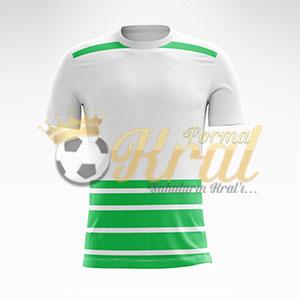 Hoop I Beyaz Yeşil Halı Saha Forma + Şort