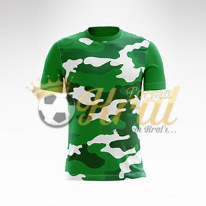 Kamuflaj Yeşil Halı Saha Forma + Şort