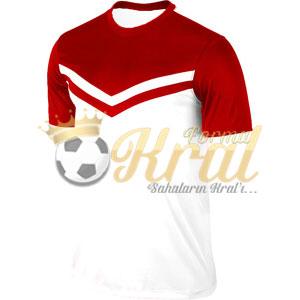 Victory II Beyaz Kırmızı Halı Saha Forma + Şort