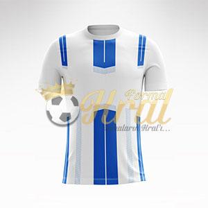 Mavi Beyaz Dortmund Halı Saha Forma + Şort