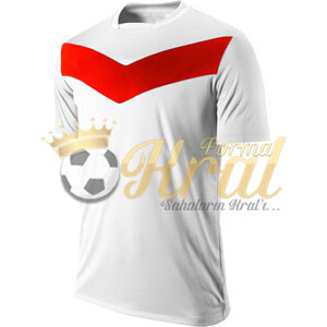 Victory Beyaz Kırmızı Halı Saha Forma + Şort