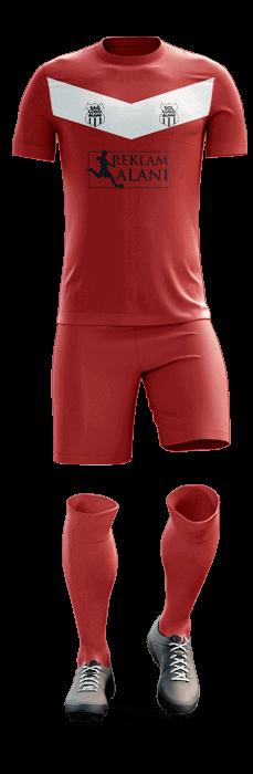 BVB Kırmızı Dijital Halı Saha Forma