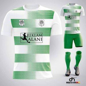 Dortmund Beyaz-Yeşil Dijital Halı Saha Forma