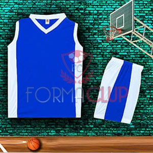 Basketbol Forması Saks/Beyaz