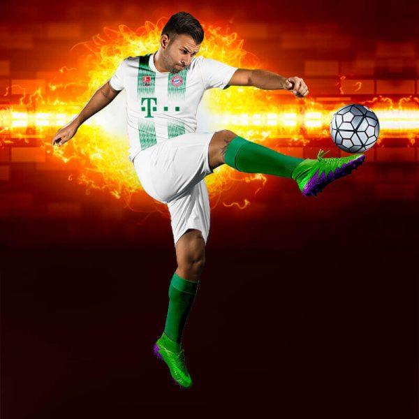 Bayern Munih Yeşil Dijital Halı Saha Forma