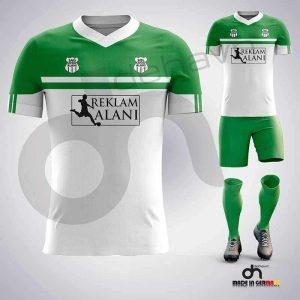 Asist Beyaz-Yeşil Dijital Halı Saha Forma