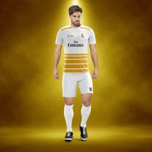 Real Beyaz-Gold Dijital Halı Saha Forma