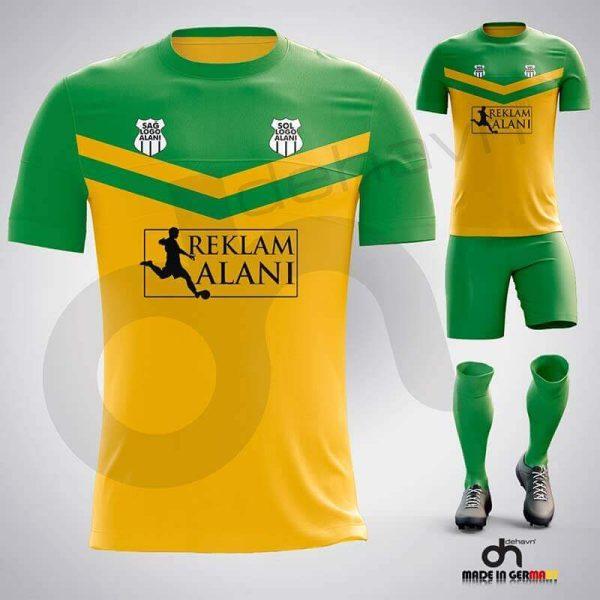 Victory Sarı-Yeşil Dijital Halı Saha Forma